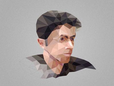 Team menber portrait polygon flat portrait triangle face