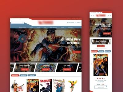 Comics sale website mobile ui web design responsive web web  design