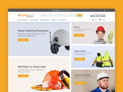 Website for the sale of products for industrial use ui web design web design web