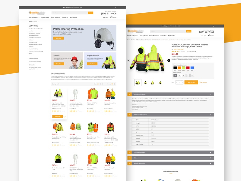Website for the sale of products for industrial use ecommerce design web web  design ui web design