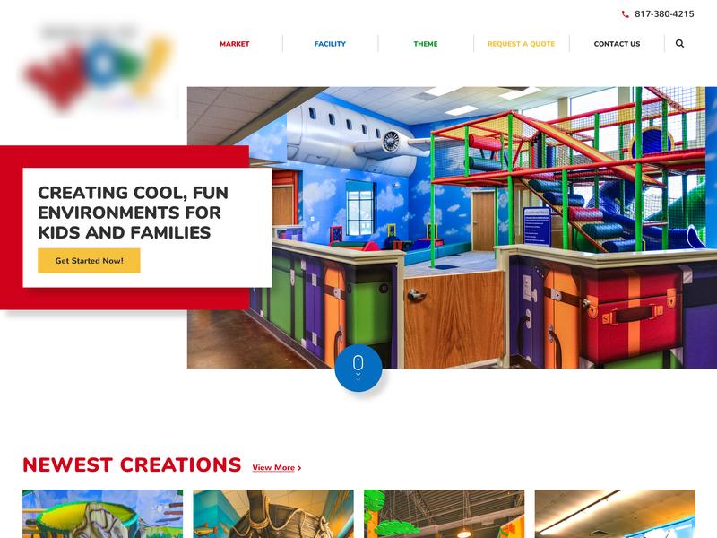 Website of games for children flat colors web  design web ui web design