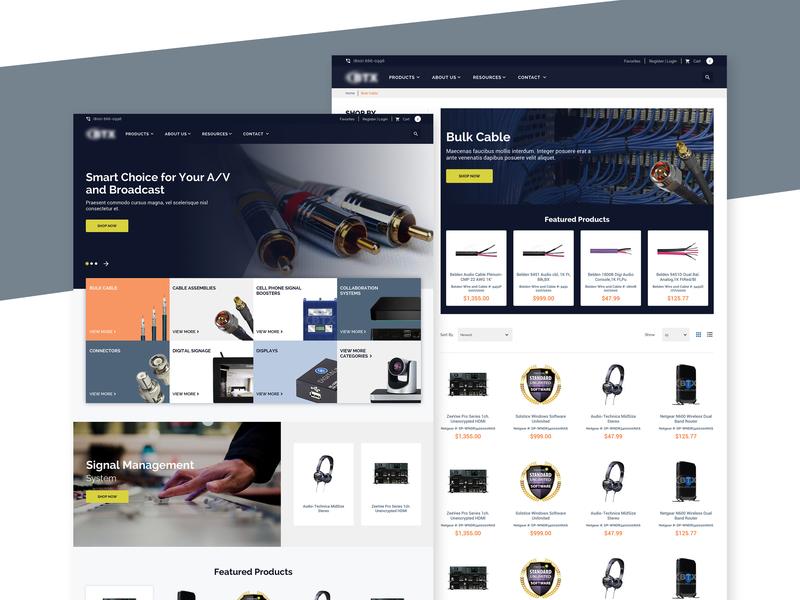 Website for the sale of multimedia integration products ecommerce web  design web ui web design