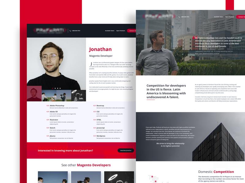 Talent management website web  design flat web ui web design