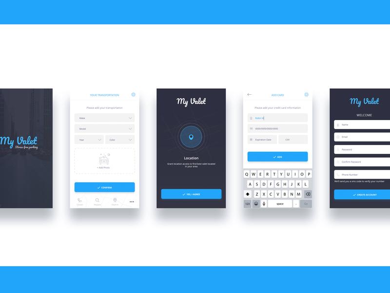Street free parking app app ux design ui design app  design