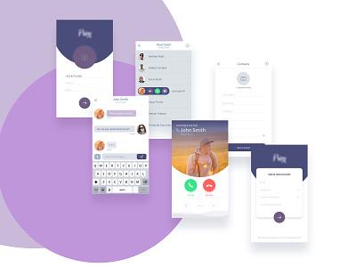 UI - Call application app  design ui design ux design