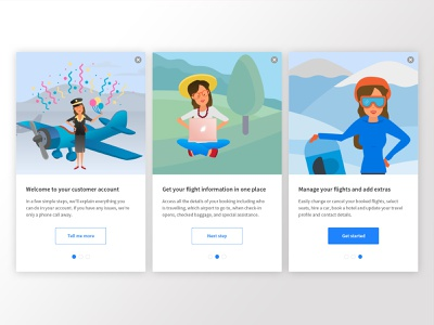 Aunt Betty - Take the tour cards ui branding illustration art app onboarding ui illustration