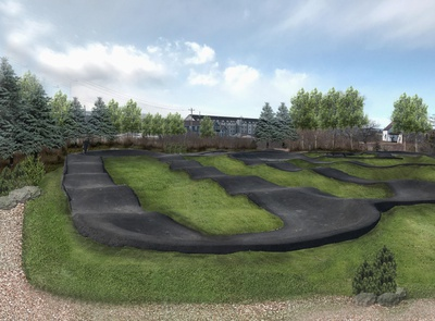 Race track-Ps rendering