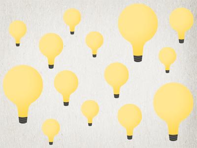 Ideas 1 illustration yellow gray