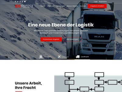 Logistics webdesign ui  ux webdesign