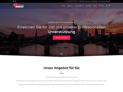 Invader digital agency webdevelopment website webdesign typography logo icon branding web ux ui