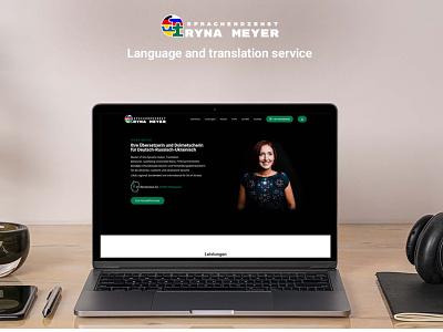 Iryna Meyer Transpate and language service webdevelopment website webdesign icon logo branding web ux ui design