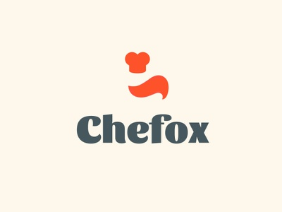 chefox illustration logo kitchen chef fox furniture branding