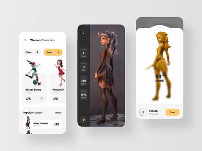 Mobile App for 3d Printer Animation printmaking printing printers print printer modeling model 3d art 3d animation 3d