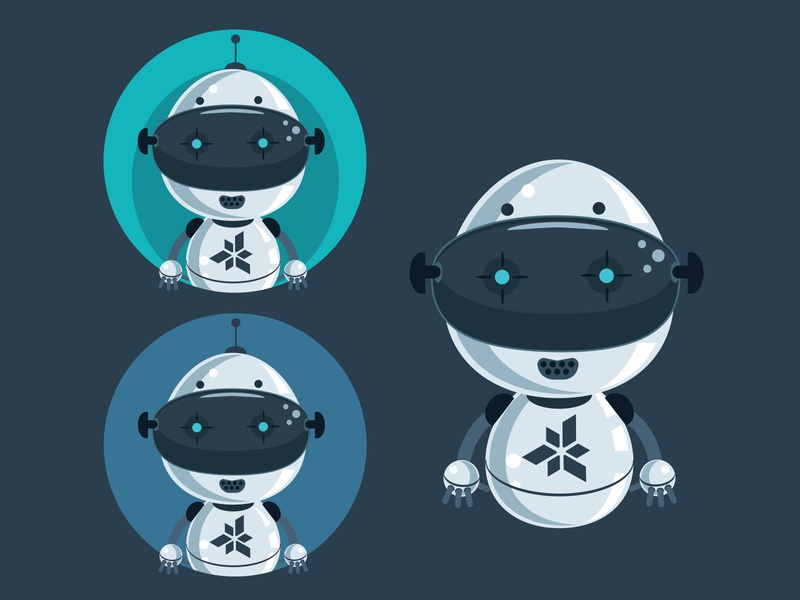 Roboto Character illustration design