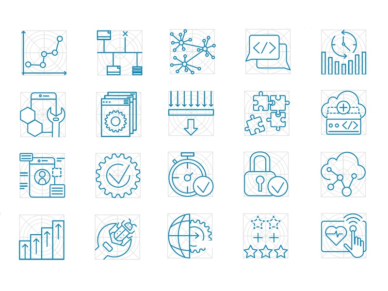 Technology Icons web branding icon