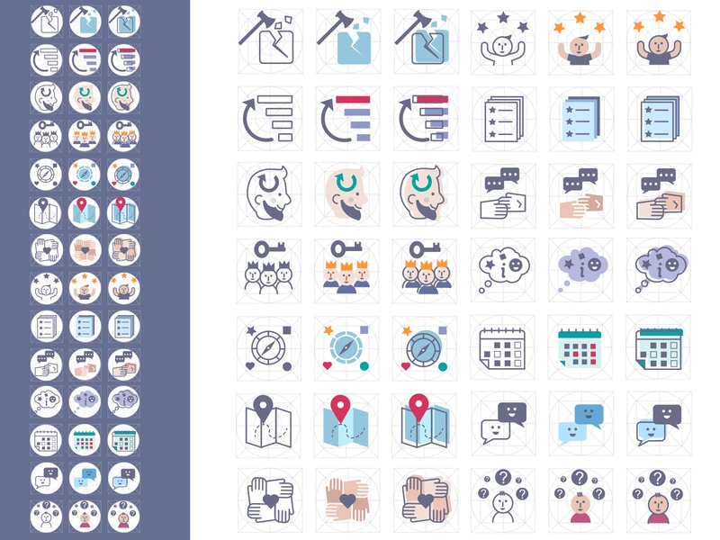 E-learning  icons illustration icon design