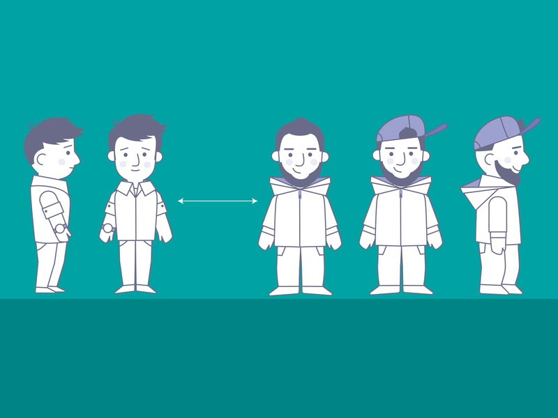 E-learning characters illustration design