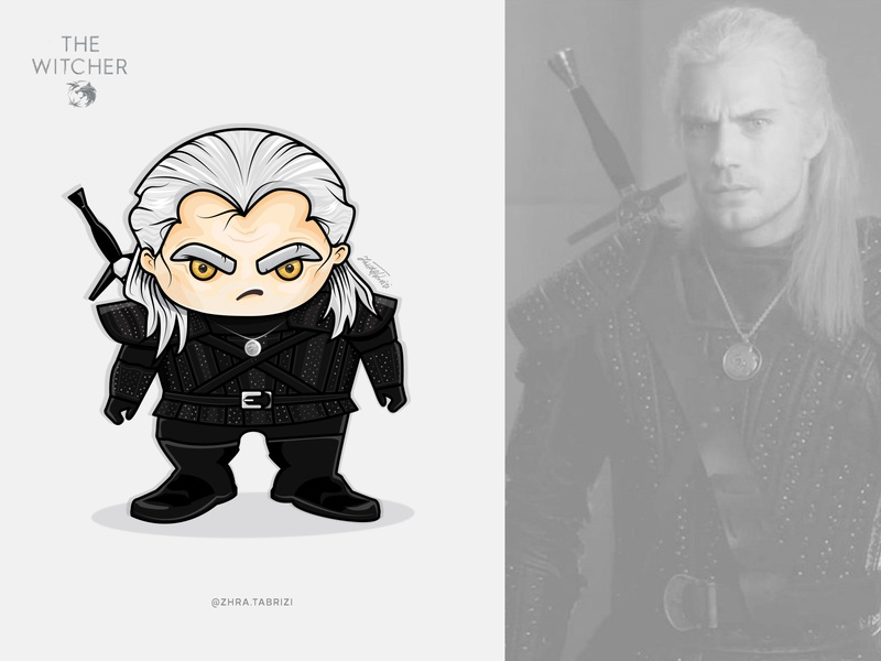 The Witcher Vector cute art design logo logo design vector art illustrations geralt witcher illustration art illustration illustrator vector illustration vectorart vector art