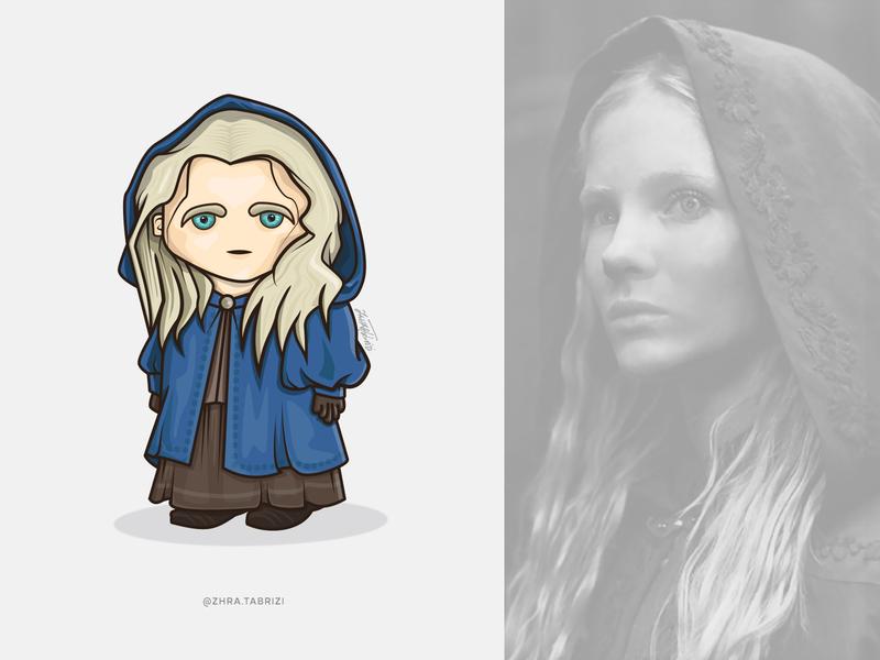 Ciri Illustration vector illustration vectorart cute art witcher ciri witcher ciri logo vector illustration artist design art