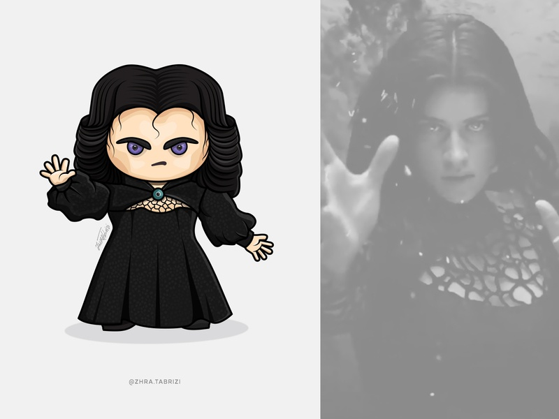 Yennefer Illustration comic witcher vectorart logo vector illustration cute art art artist design
