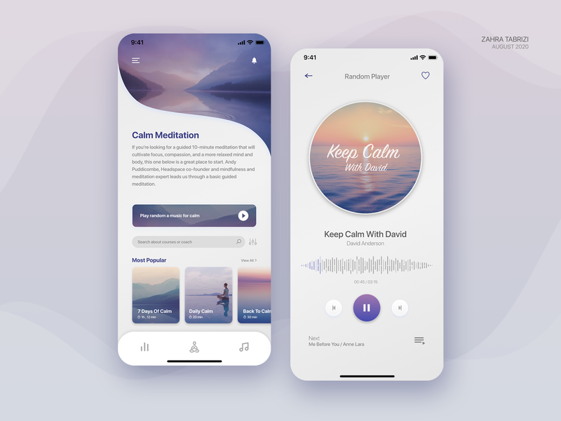 Meditation Application meditation app meditate meditation design app uiux ui design uidesign application app design ux ui art