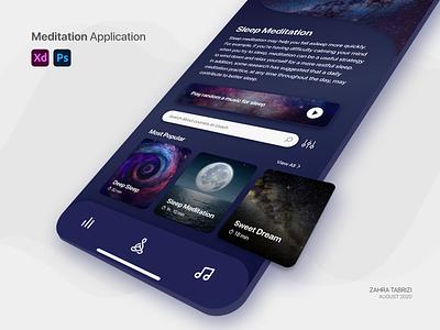 Meditation App - Dark Mode designwich dark mode dark app meditations meditation meditation app app uiux ui design uidesign application app design ux ui design