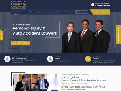 Brassfield Kruger Lawyer Website Design