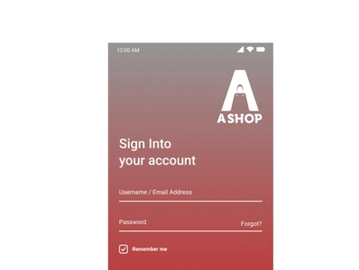 Sign In page designed by Figma