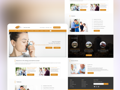 Allergy Asthma Specialist website photoshop graphics design patient provider healthcare medical docotrs allergy ux design website development webdesign uidesign
