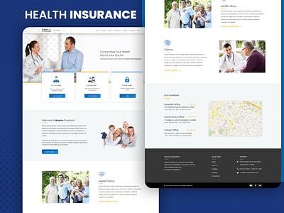 Health Insurance provider home page website web template template desgin graphics design ui design physicians medical insurance health insurance