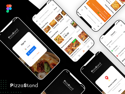 PizzaStand mobile ui figma fast food menu pizza menu italian itm fast foo pizza online booking for food tabe book mobile application food