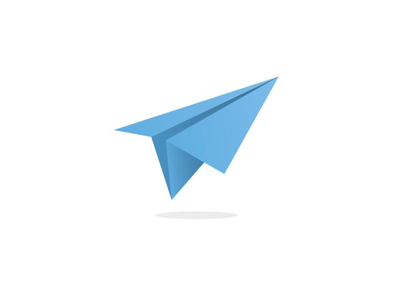 Paper Plane Logo illustration icon logo logo design identity