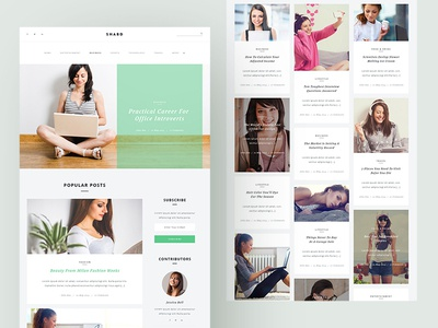 Web interface design for Blogging Website psd wordpress uidesign uxdesign website minimal ux app web typography ui design