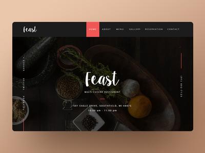 UI Design for Restaurant Website ui  ux uiinspiration ux  ui uxdesign web uidesign typography ux ui design