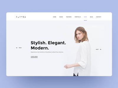 Fashion Website Header uitrend uxtrends uiinspiration minimal web ecommerce design clean ui webdesign ux ui uidesign