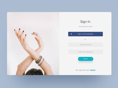 Sign In UI Card uiconcept uichallenge web app design ux minimal uidesign ui