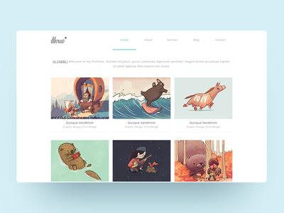 Portfolio Website Design portfolio userinterface minimalist clean ui web design modern web uidesign minimal design ux ui