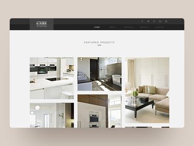 Interior Design Website Home Page Design landing page responsive minimalist html interior design web design uidesign ux minimal ui