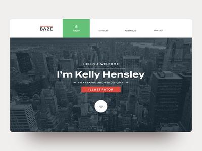 Portfolio Page Design user interface elegant wellmadepixel portfolio landing page clean ui icon minimal uidesign design web ux ui