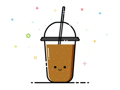 Softdrink softdrink drink smile happy cute mbe character vector illustration