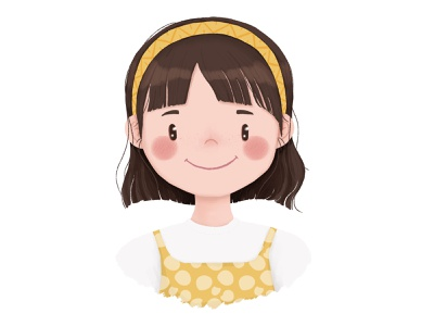 Girl Profile Picture avatar smiling face profile picture digital drawing girl character character illustration character design cute character illustration cute design character