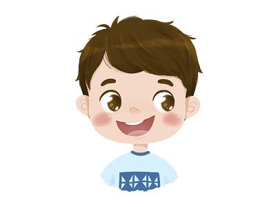 Cute Boy digital drawing character illustration cute character character design avatar smile happy illustration cute character