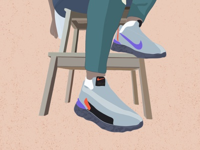 react sneakers design illustration