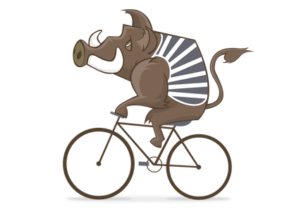 boar biking vector illustration graphic design