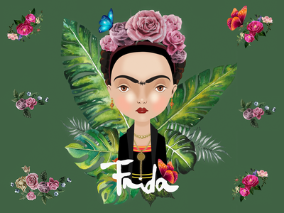Frida vector illustration graphic frida frida kahlo