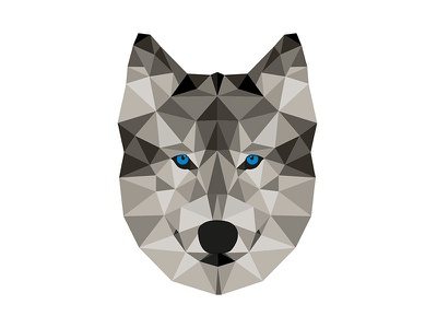 Triangle wolf triangle wolf mumka illustration vector animal triangle wolf