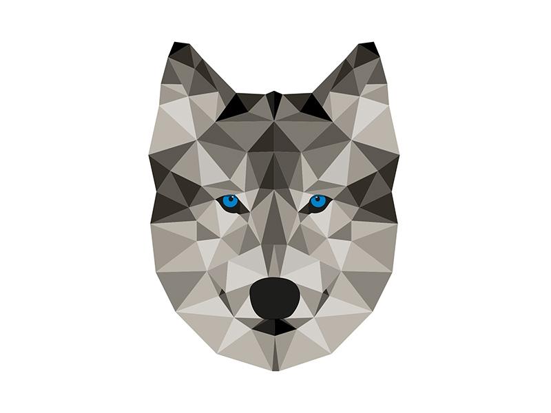 картинки волка из треугольников монтеррей легко