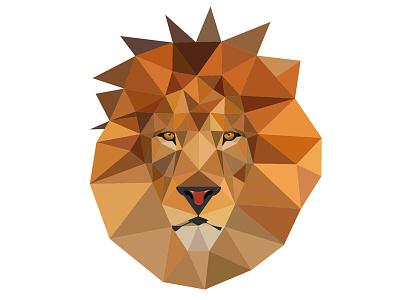 Triangle lion triangle lion illustration vector triangle animal lion