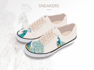 Sneakers Concept concept shoes design peacock sneaker