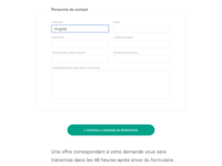 le nest – room booking form detail